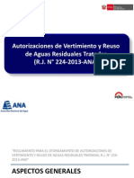 Autorizaciones de Vertimiento y Reuso Segun Rj224_2013_ana