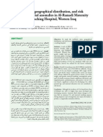 Incidence, types, geographical distribution, and risk factors of congenital anomalies in Al-Ramadi Maternity and Children's Teaching Hospital, Western Iraq