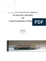 Legal Foundation of Education