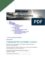 Criptografia Rc4 Em Delphi e Lazaruz