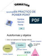 Examen Practico de Power Point