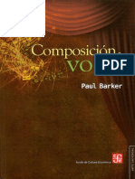Barker - Composición vocal