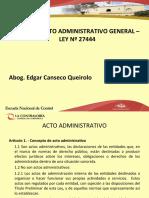 Clases 2, 3 y 4 (Curso Procedimiento Administrativo General)