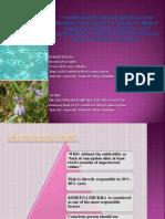 Dr.Anjana Saini Synopsis on COMPARATIVE PHYTOCHEMICAL AND PHARMACOTHERAPEUTIC STUDY OF BRIHAT GOKSHURA (Pedalium Murex) AND  TALMAKHANA (Asteracantha Longifolia)  W.S.R. TO KSHEENA SHUKRA