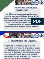 Clasificacion de Las Razones Financieras