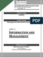 Unit - 1 of MIS