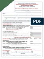 2014 SUGUNA Conference Registration Form