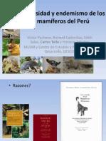 6. Diversidad y Endemismo de Mamiferos - Carlos Tello