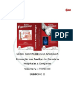 FARMACOCINÉTICA E FARMACODINÂMICA SUBTOMO I DO TOMO III VOLUME V
