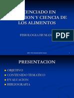 Presentacion Del Curso de Fisiiologia