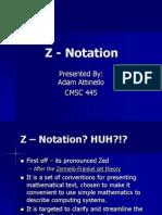 Z - Notation
