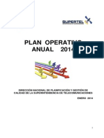 Plan Operativo Supertel 2014