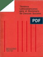 Terminos Latinoamericanos Para El Diccionario de Ciencias Sociales