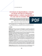 Prevalencia de hipotiroidismo y relación