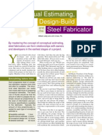 Conceptual Estimating, Design-Build and the Steel Fabricator