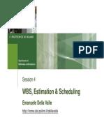 P&MSP2009 05 WBS Estimation & Scheduling