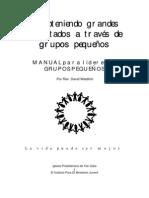 MANUAL para líderes DE GRUPOS PEQUEÑOS