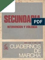 N° 48 - Abril 1971 - Secundaria, intervención y violencia