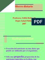 El Fe en Los Alimentos. P.P 2007