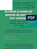Accidente Si Complicatii Generale Ale Anesteziei Loco Regionale