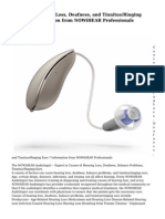 Causes of Hearing Loss, Deafness, and Tinnitus/Ringing Ears – Information from NOWiHEAR Professionals