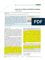 Adsorption and Diffusion of Li on Pristine and Defective Graphene