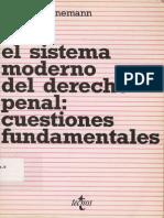 El Sistema Moderno Del Derecho - Bernd Schunemann