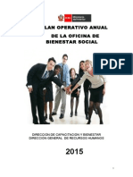 Plan Bienestar Social 2015