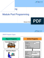 ABAP Training - Module Poolnew