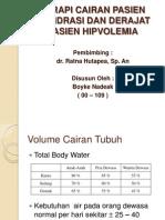 Terapi Cairan Pasien Dehidrasi Dan Derajat Pasien Hipvolemia