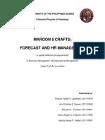 2014-02-13 (BM 186 Forecast and HR Management)