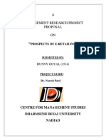 Research Proposal E-Retailing