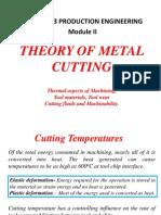 Theory of metal cutting - Module II