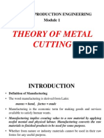 Theory of metal cutting-Module 1