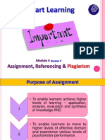 BKB Module 4 Version 7 - Assignment, Referencing and Plagiarism