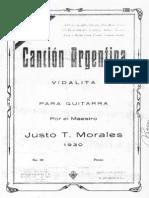 Morales Cancion Argentina Vidalita