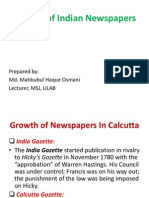 Growth of Indian Newspapers