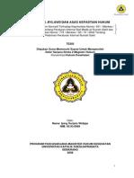 HBL Dan AzasKewpastian Hukum