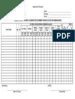 Summary Report on Early Childhood Development Checklist ECCD for Kindergarten Blank Form