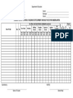 Summary Report on Early Childhood Development Checklist ECCD for Kindergarten Blank Form