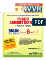 Public Administration Test Series in Hyderabad