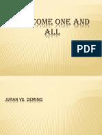 Juran vs Deming