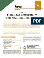 Jordi Roca_Fiscalidad Ambiental y Reforma Fiscal Ecológica