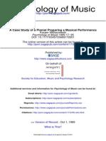 Case Study Preparing Performance