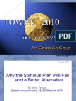 Jake Towne - Lecture at Moravian College on Stimulus Plans (Oct 2009)