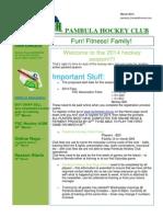 Hockey Newsletter March 2014