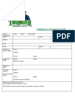 Pambula Hockey Club Membership Forms 2014