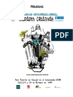 Programa Congreso Ciudades Creativas
