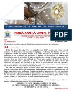 Hora Santa con el Papa. I Aniversario de la elección de S.S. Francisco