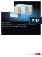 Line Distance Protection Rel670 650